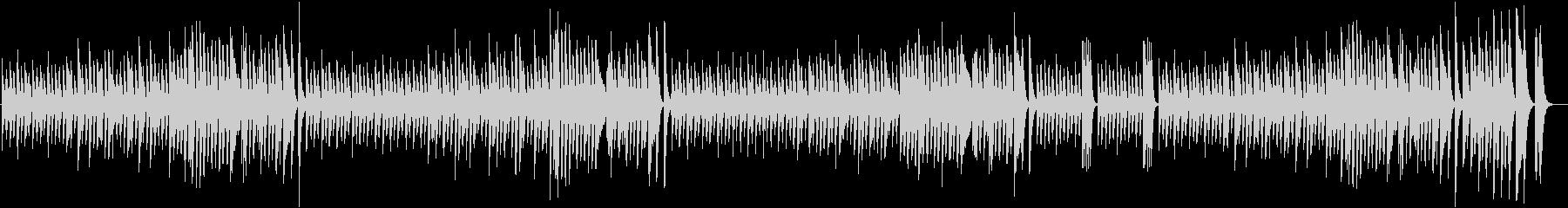 白銀の世界を描いた楽しい冬ピアノBGMの未再生の波形
