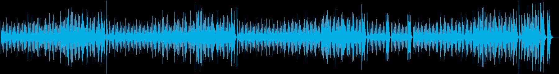 白銀の世界を描いた楽しい冬ピアノBGMの再生済みの波形