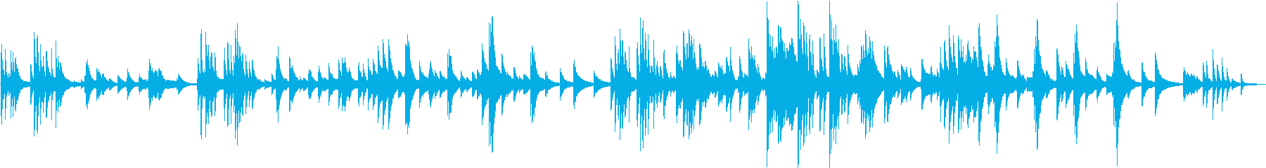 ピアノソロ。の再生済みの波形