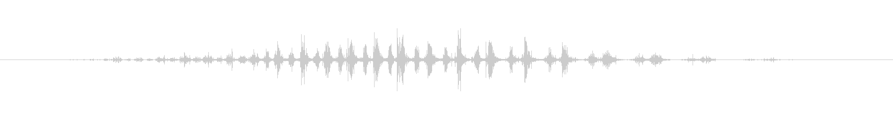 シェーカー ウッドラトルダイナミック02の未再生の波形