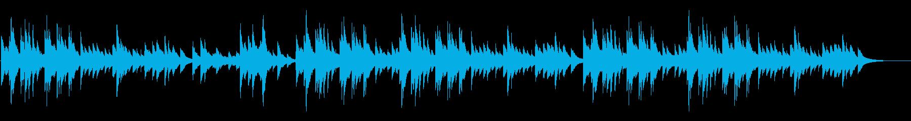 不眠症解消ピアノ曲、木馬の再生済みの波形