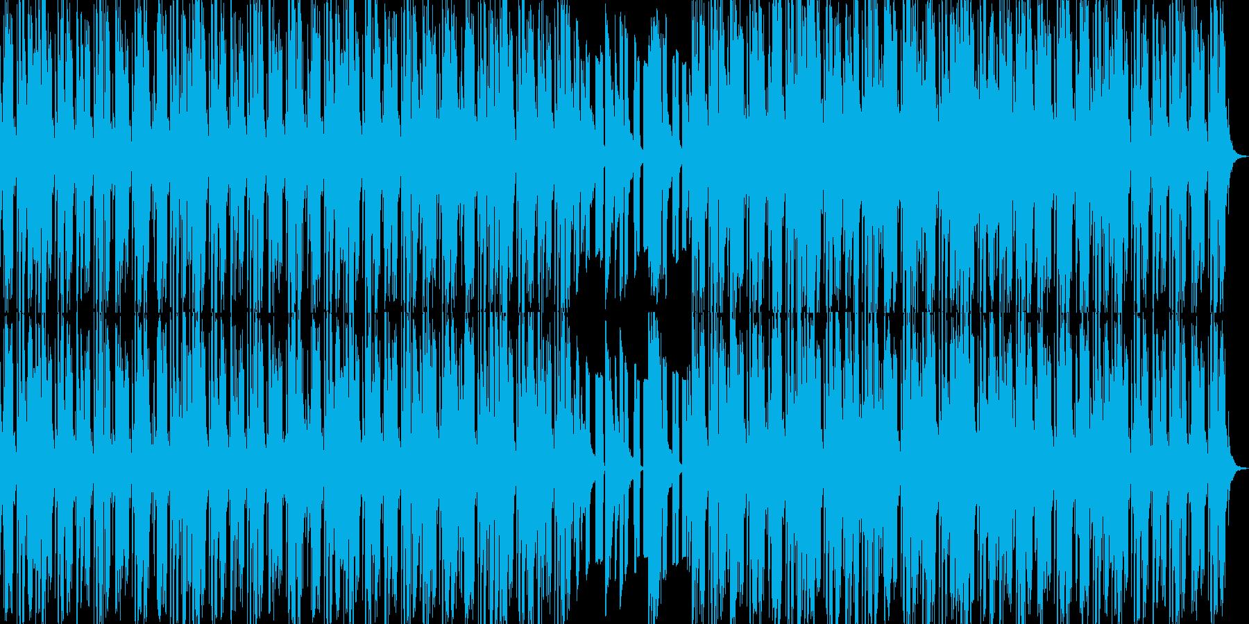 DUB調のピアノ曲の再生済みの波形