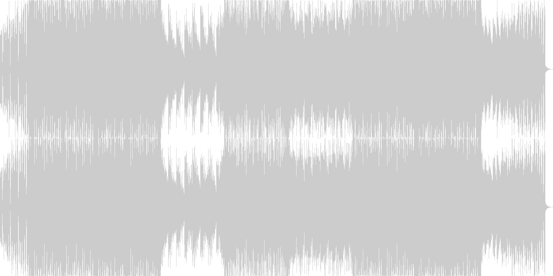 ファンキーなグリッチホップ・ダブステップの未再生の波形