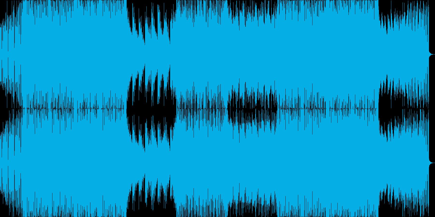 ファンキーなグリッチホップ・ダブステップの再生済みの波形