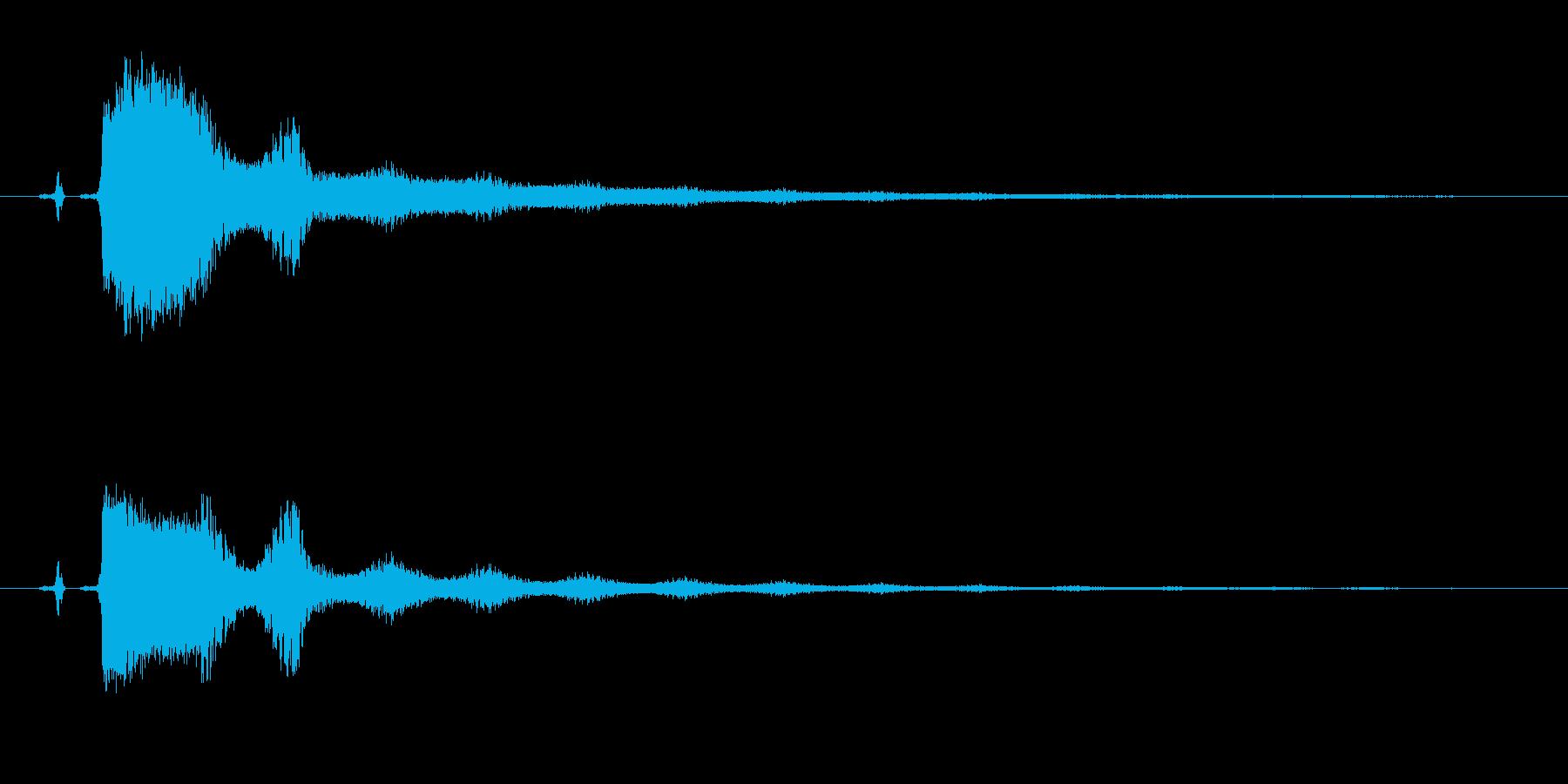 消える、消去、とんずら、ボタン音の再生済みの波形
