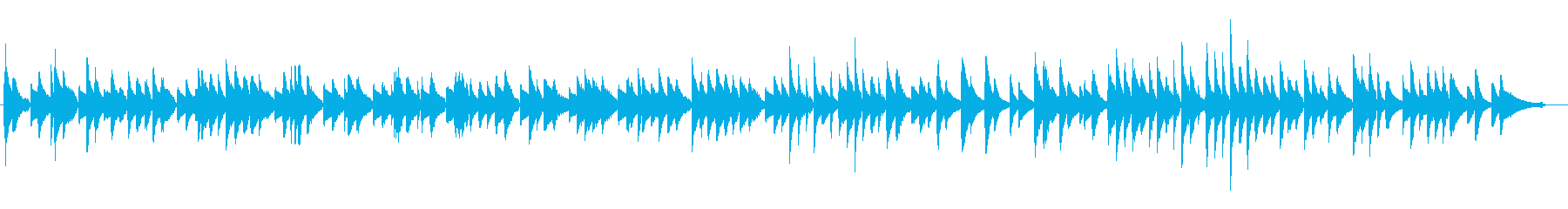 サティっぽいピアノソロの再生済みの波形