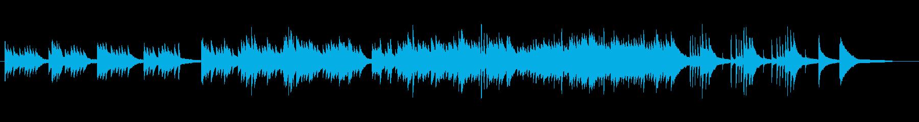静かで優しげなピアノソロの再生済みの波形