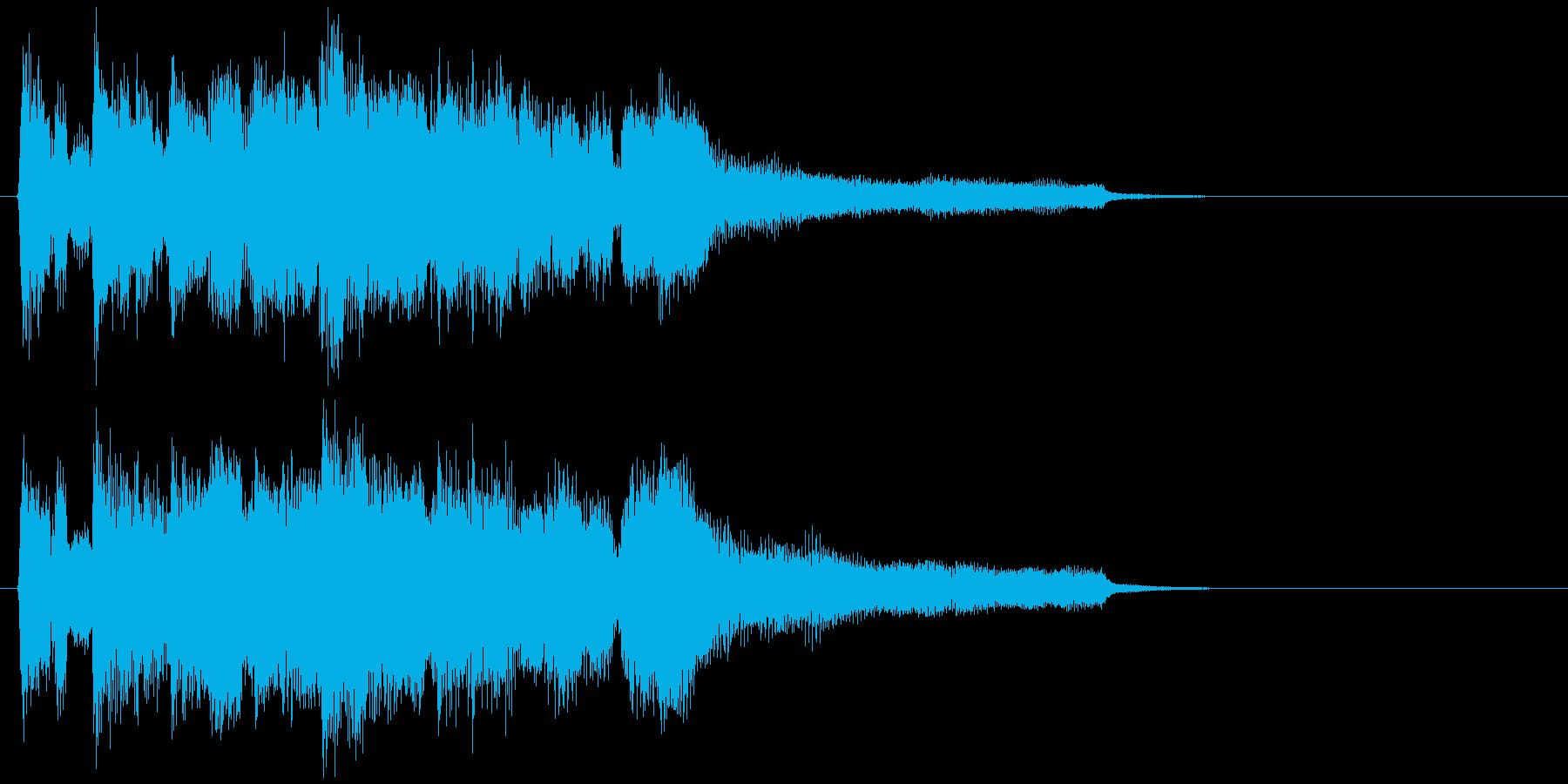 爽やかボサノバのアイキャッチ、ジングルの再生済みの波形