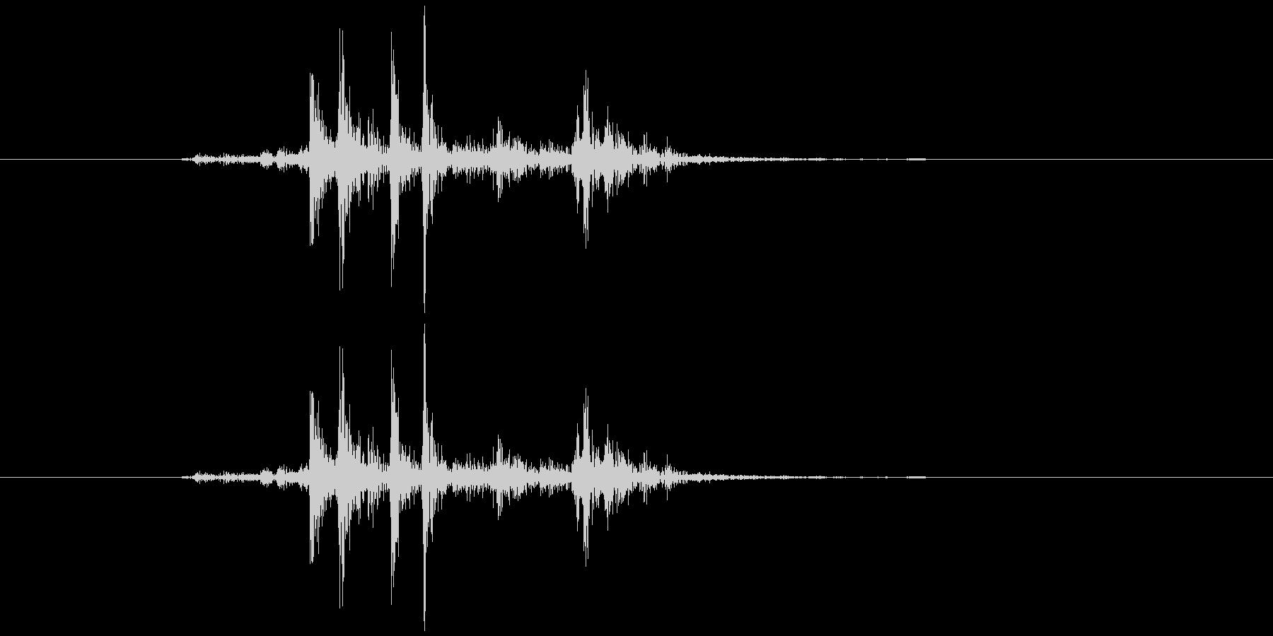 シャッター音(デジタル一眼)の未再生の波形