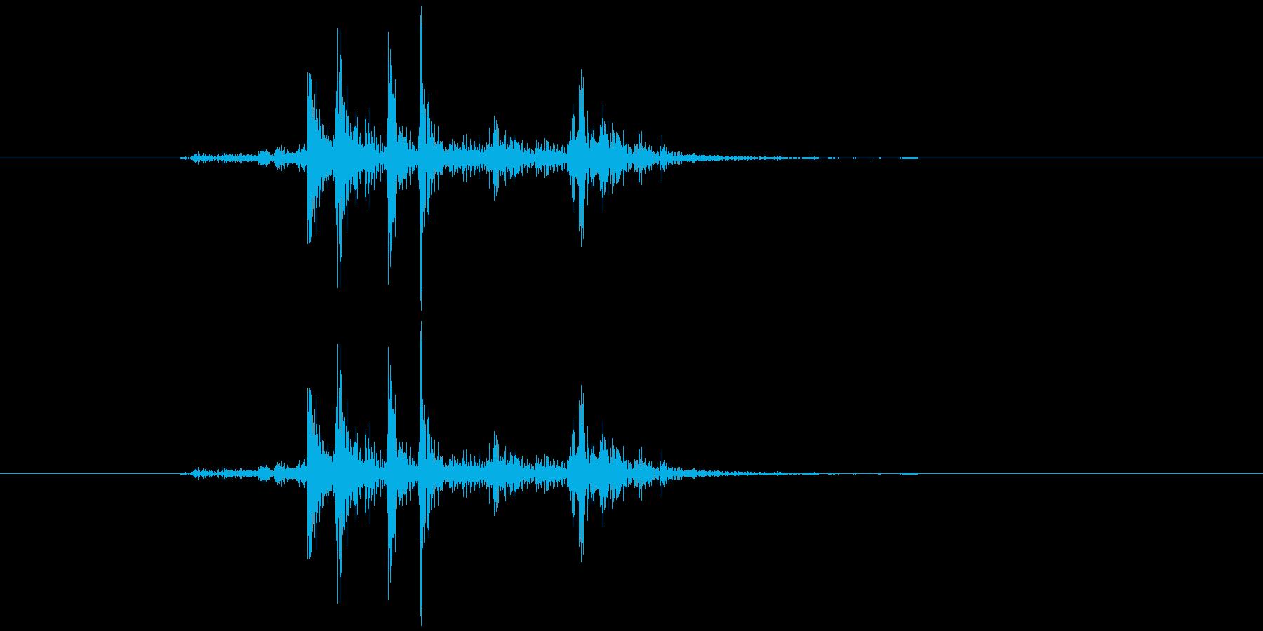 シャッター音(デジタル一眼)の再生済みの波形
