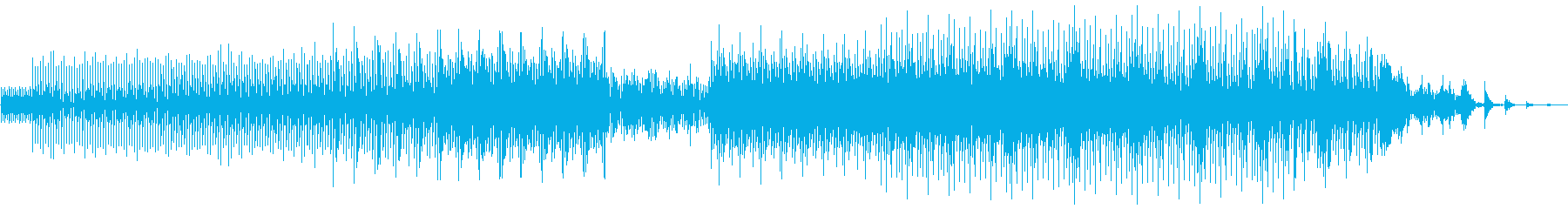 ドライブ向けのミニマルテクノの再生済みの波形