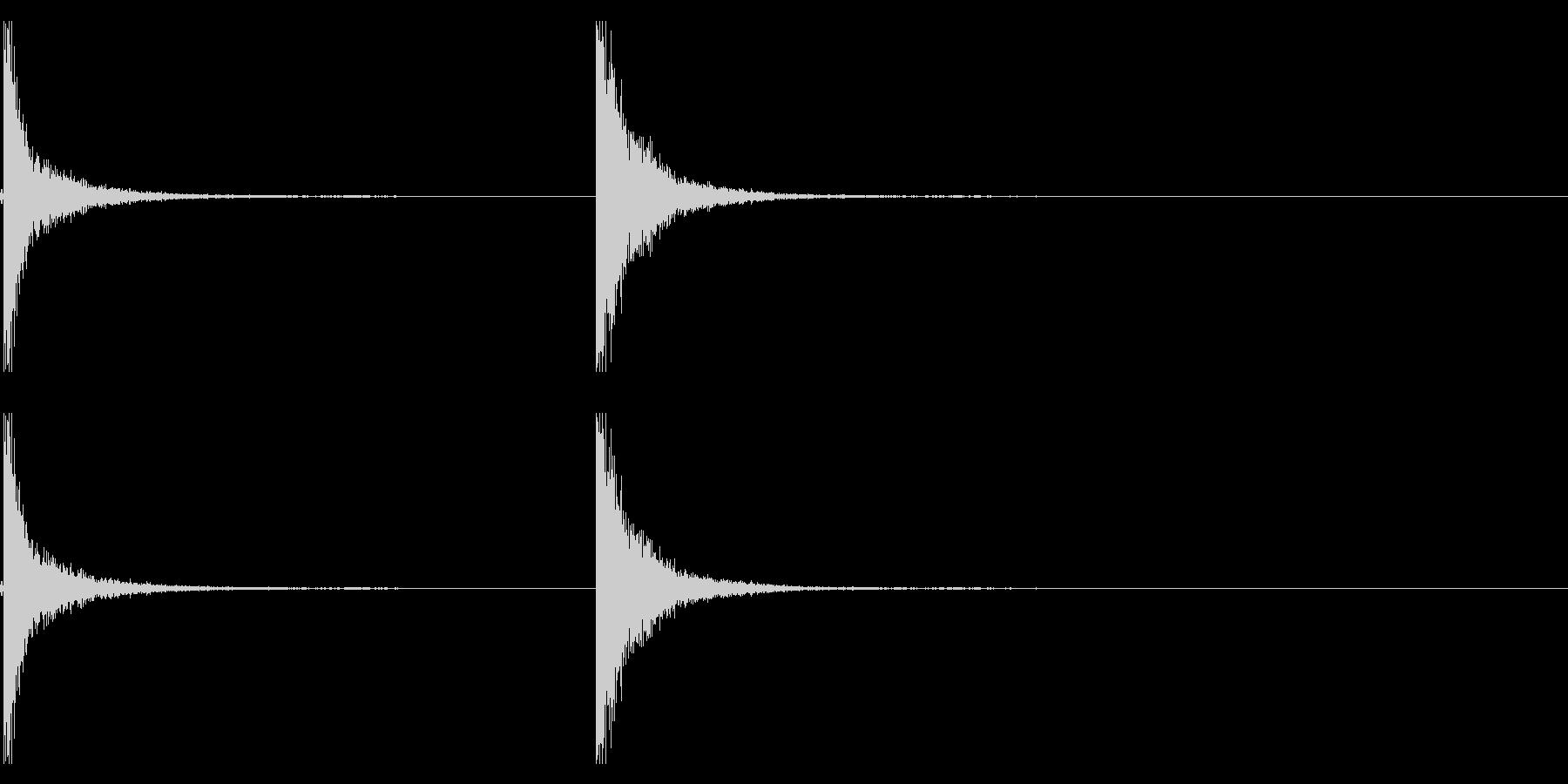 つるはし音(カンッカンッ)の未再生の波形