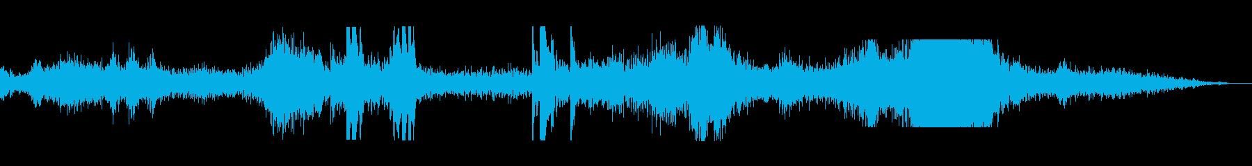 機械トラクターバックホーモーターdの再生済みの波形