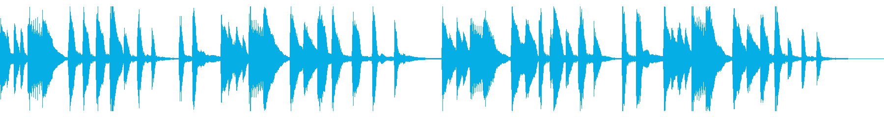 妖精・不思議イメージのかわいいピアノ曲の再生済みの波形