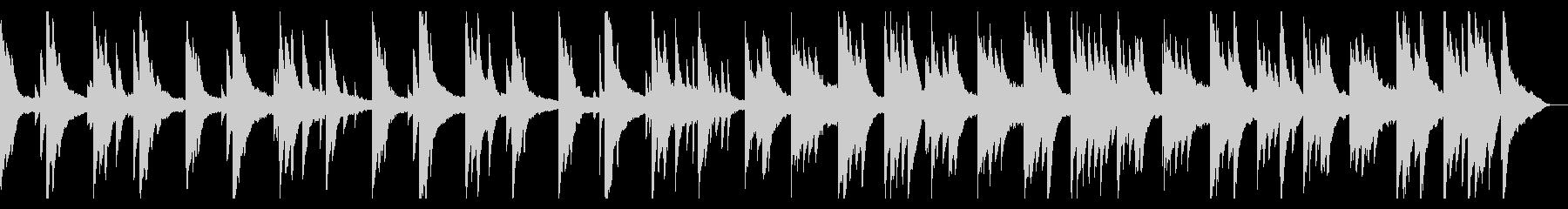 日常系の静かなピアノBGMの未再生の波形