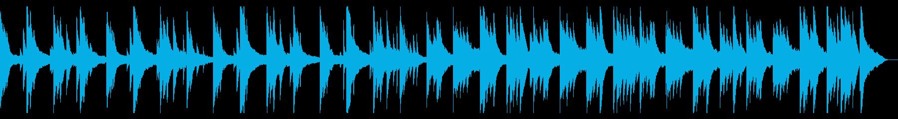 日常系の静かなピアノBGMの再生済みの波形
