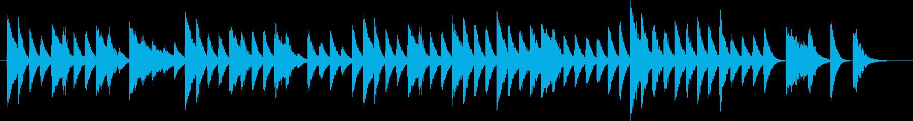6度で弾いた可愛い運動会ピアノジングルの再生済みの波形