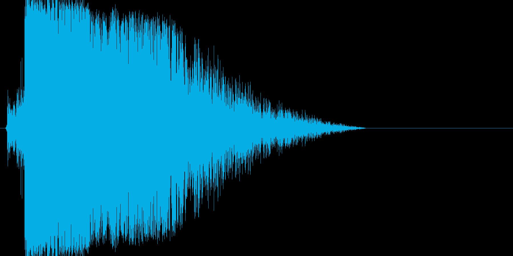 キュイン!カキーン!大迫力インパクト音の再生済みの波形