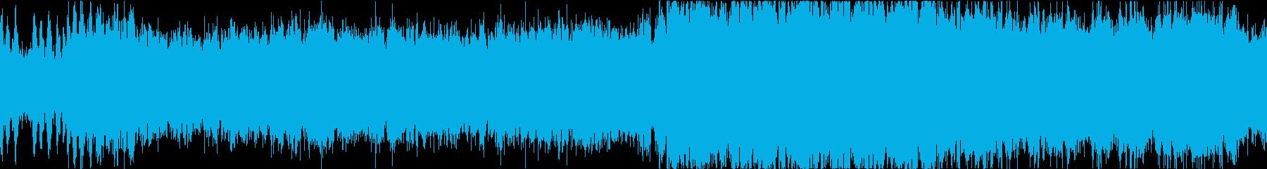 近未来なオーケストラ/テクノ ループの再生済みの波形