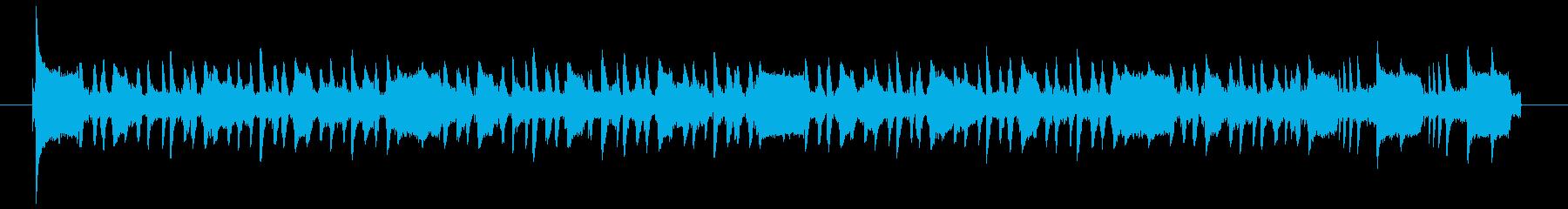パーカッシブなアコギのお洒落ジングル②の再生済みの波形