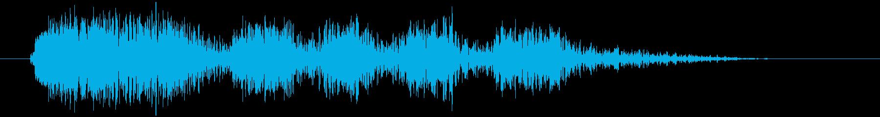 ハーハッハッハッ(不気味な悪魔の笑い声)の再生済みの波形