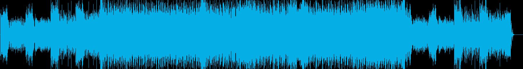 ミディアムなデジロックの再生済みの波形