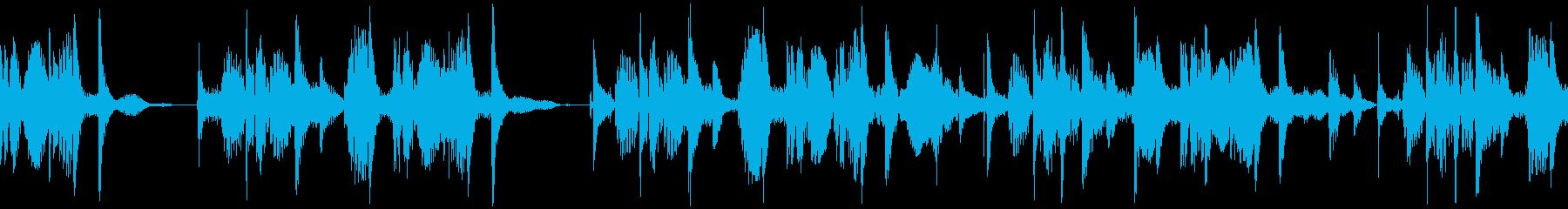 ダブの要素も入ったヒップホップビートの再生済みの波形