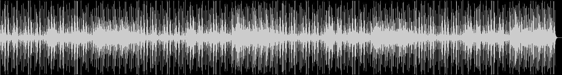 スローテンポの和風BGMの未再生の波形