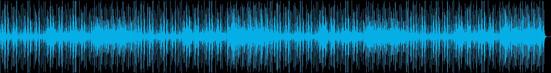 スローテンポの和風BGMの再生済みの波形