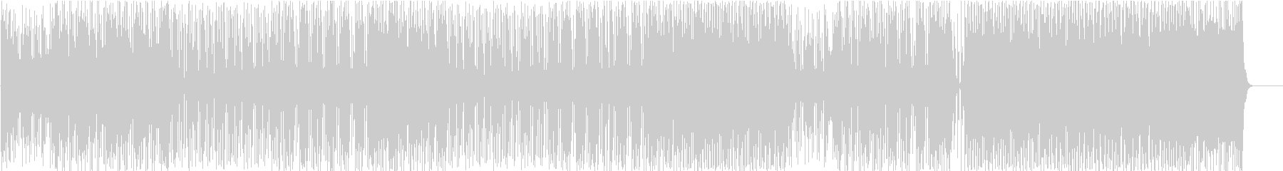 ノリの良いダークなインスト曲の未再生の波形