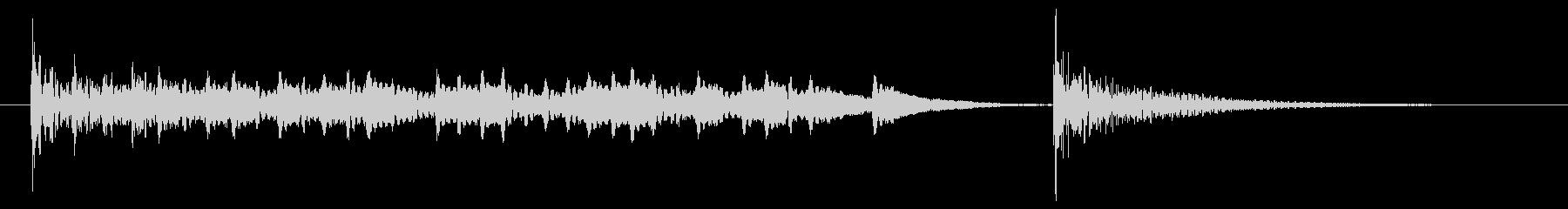 発表ドラムロール【ドンドンドン・・ドン】の未再生の波形