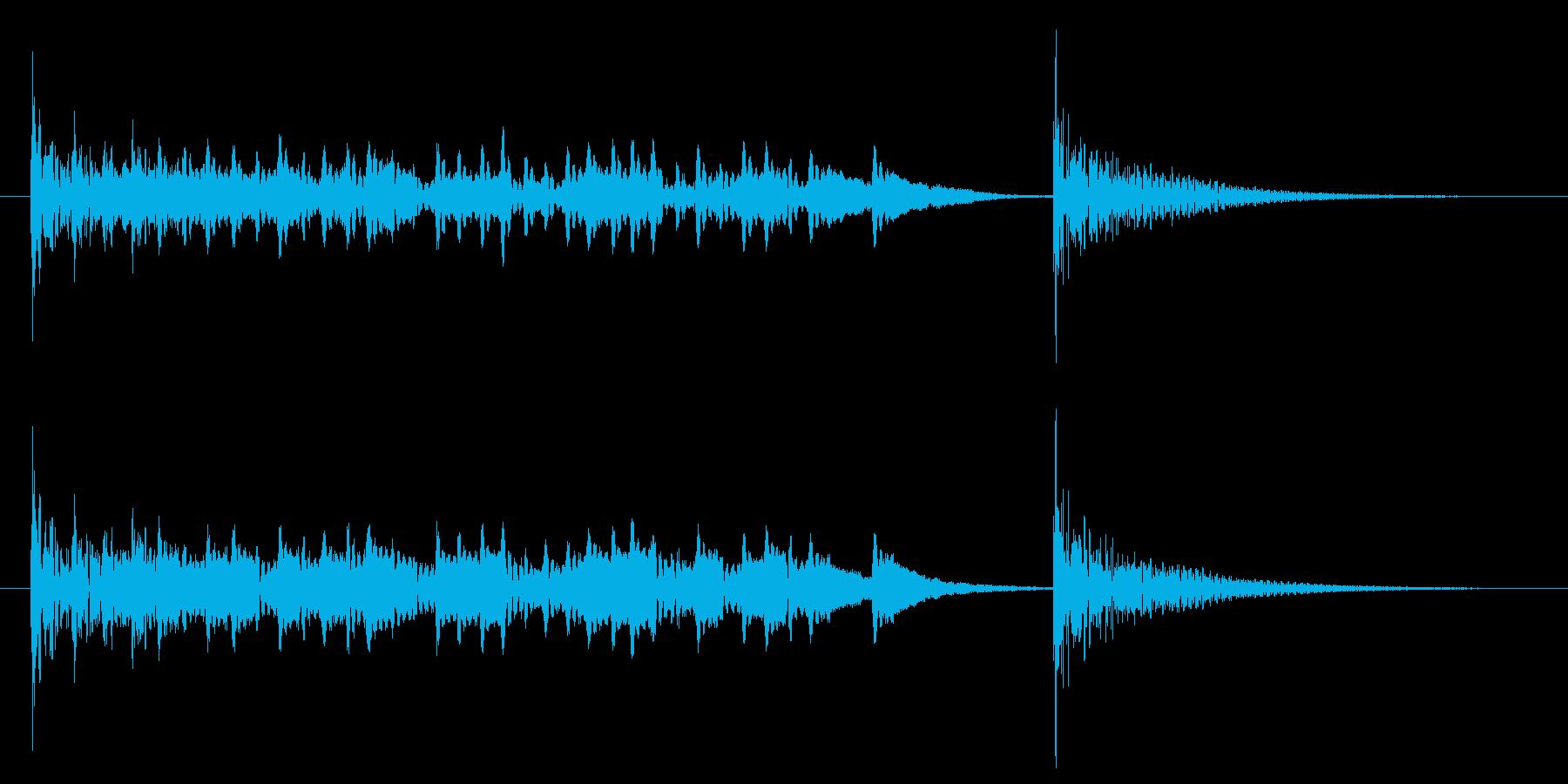 発表ドラムロール【ドンドンドン・・ドン】の再生済みの波形
