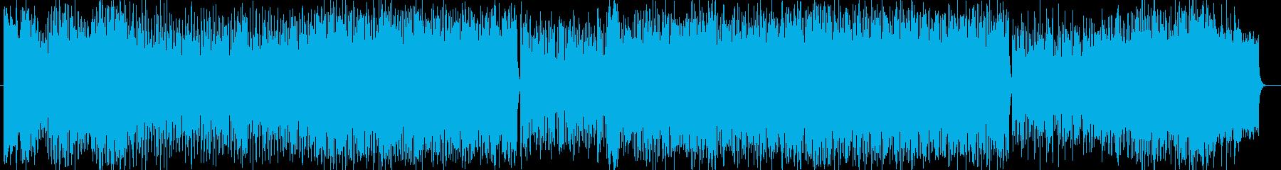 華やかなイントロのシンフォニックな曲の再生済みの波形