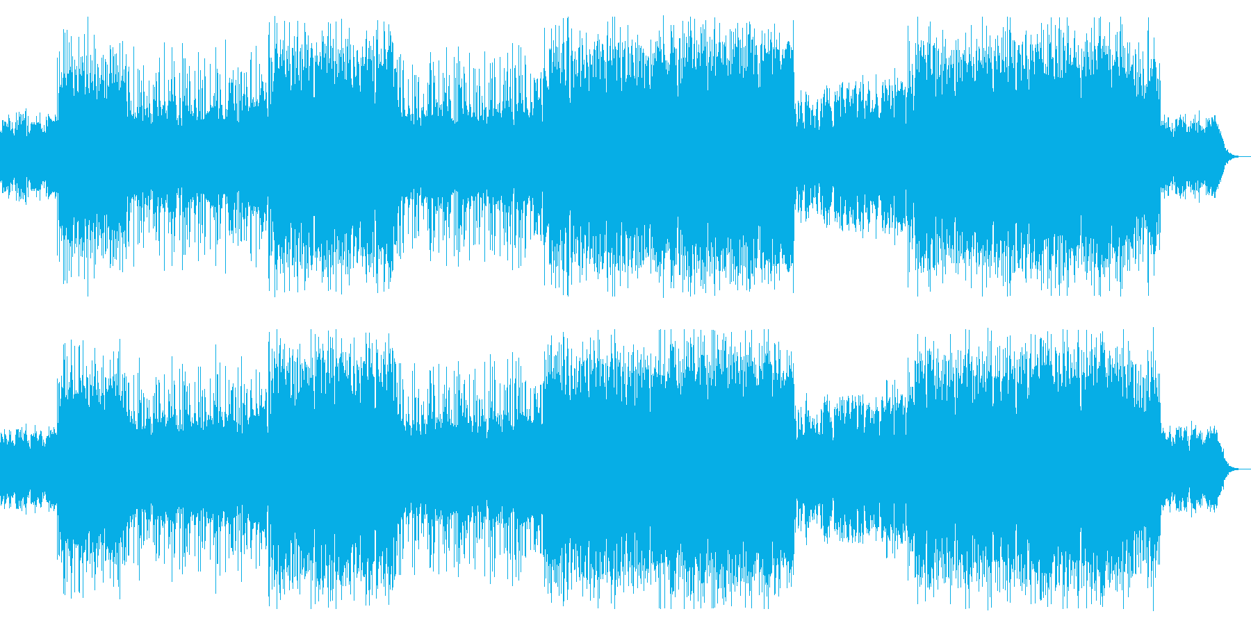 力強いギターサウンドのロックの再生済みの波形