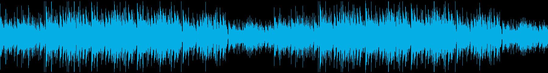 かわいい・弾むようなリズムの日常系BGMの再生済みの波形