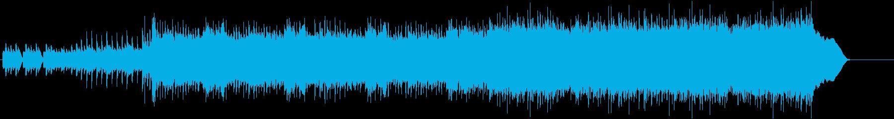 ダークファンタジーをイメージしたロック曲の再生済みの波形