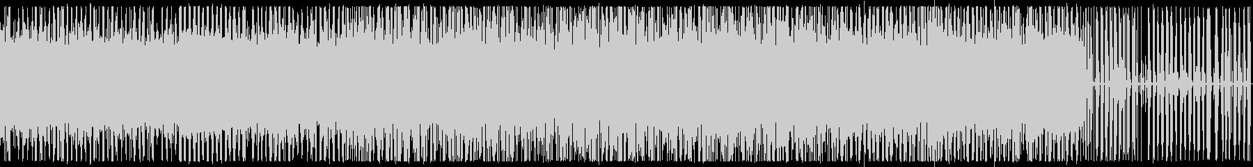 ピアノとノイズのエレクトロニカ Cの未再生の波形