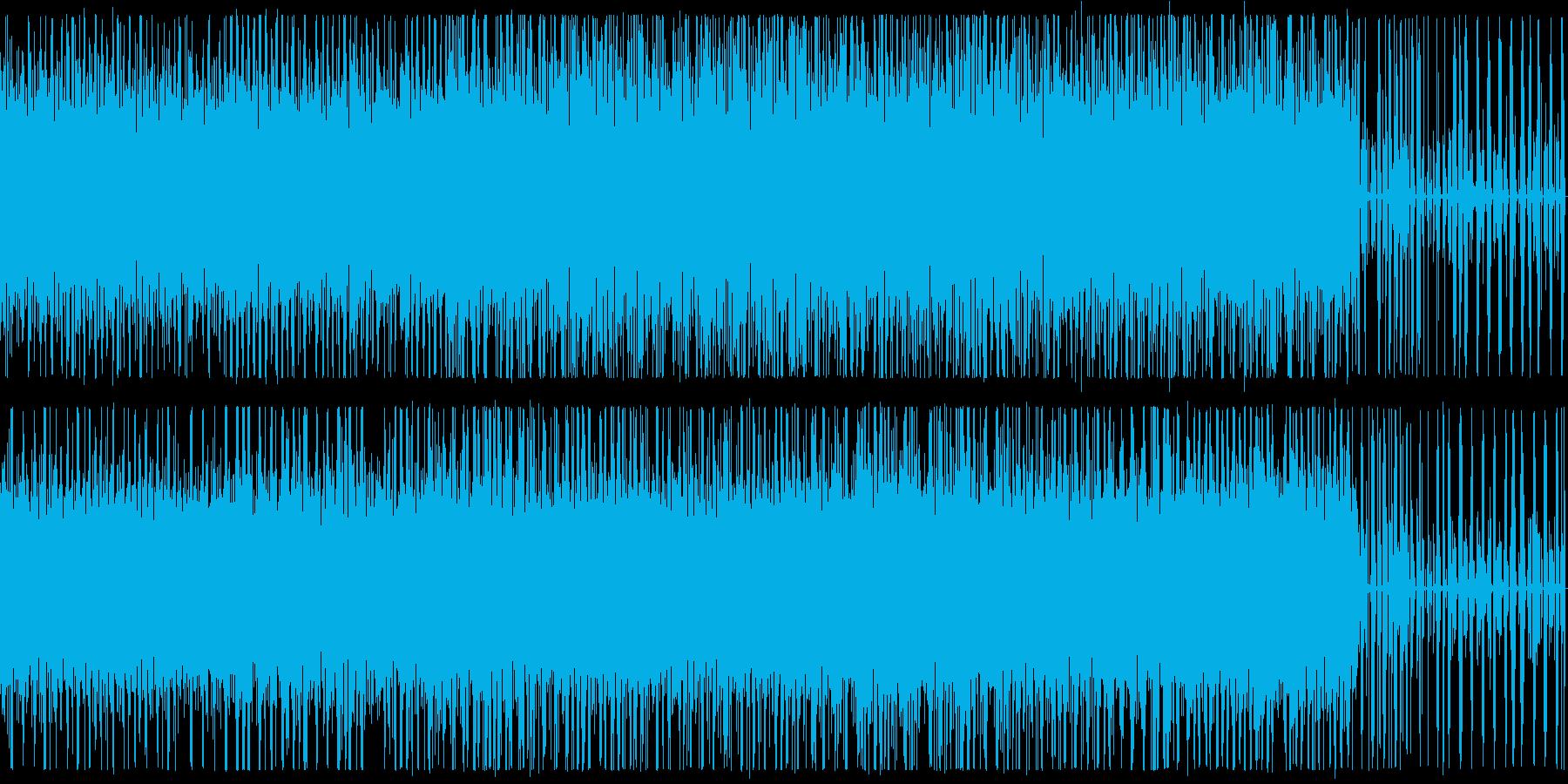 ピアノとノイズのエレクトロニカ Cの再生済みの波形