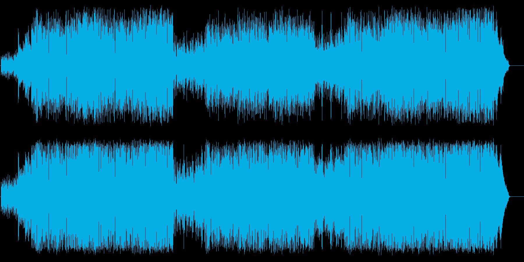 名残惜しいエンディングタイトルの再生済みの波形