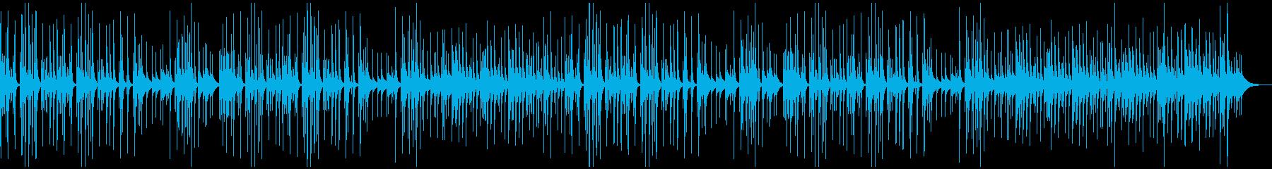 ほのぼの系BGMの再生済みの波形