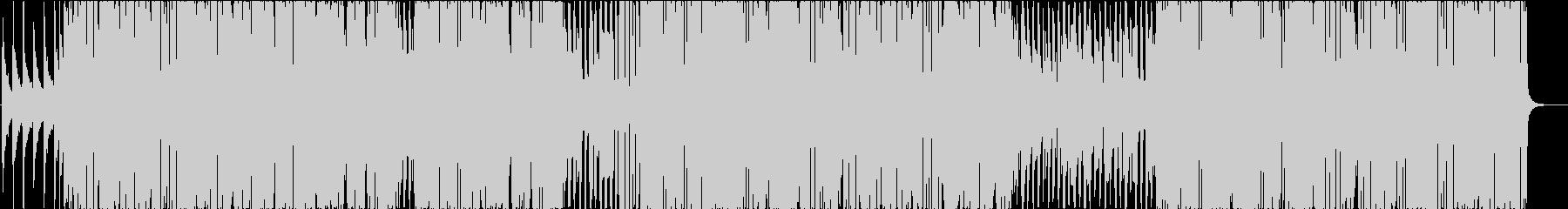 ピアノとアルトサックスのシティポップの未再生の波形