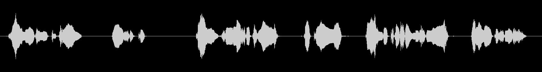 場内での喫煙、飲食、講演中の撮影・録音はの未再生の波形
