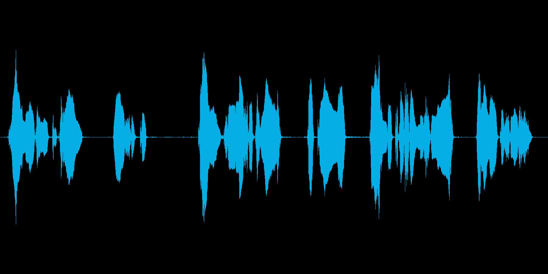 場内での喫煙、飲食、講演中の撮影・録音はの再生済みの波形