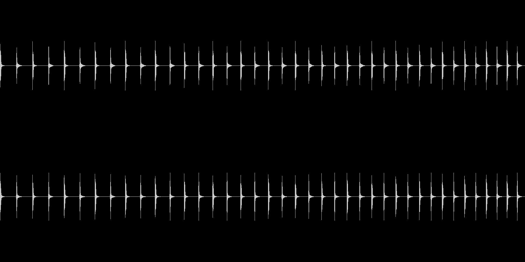 チッチッチ:早くなる秒針の音の未再生の波形