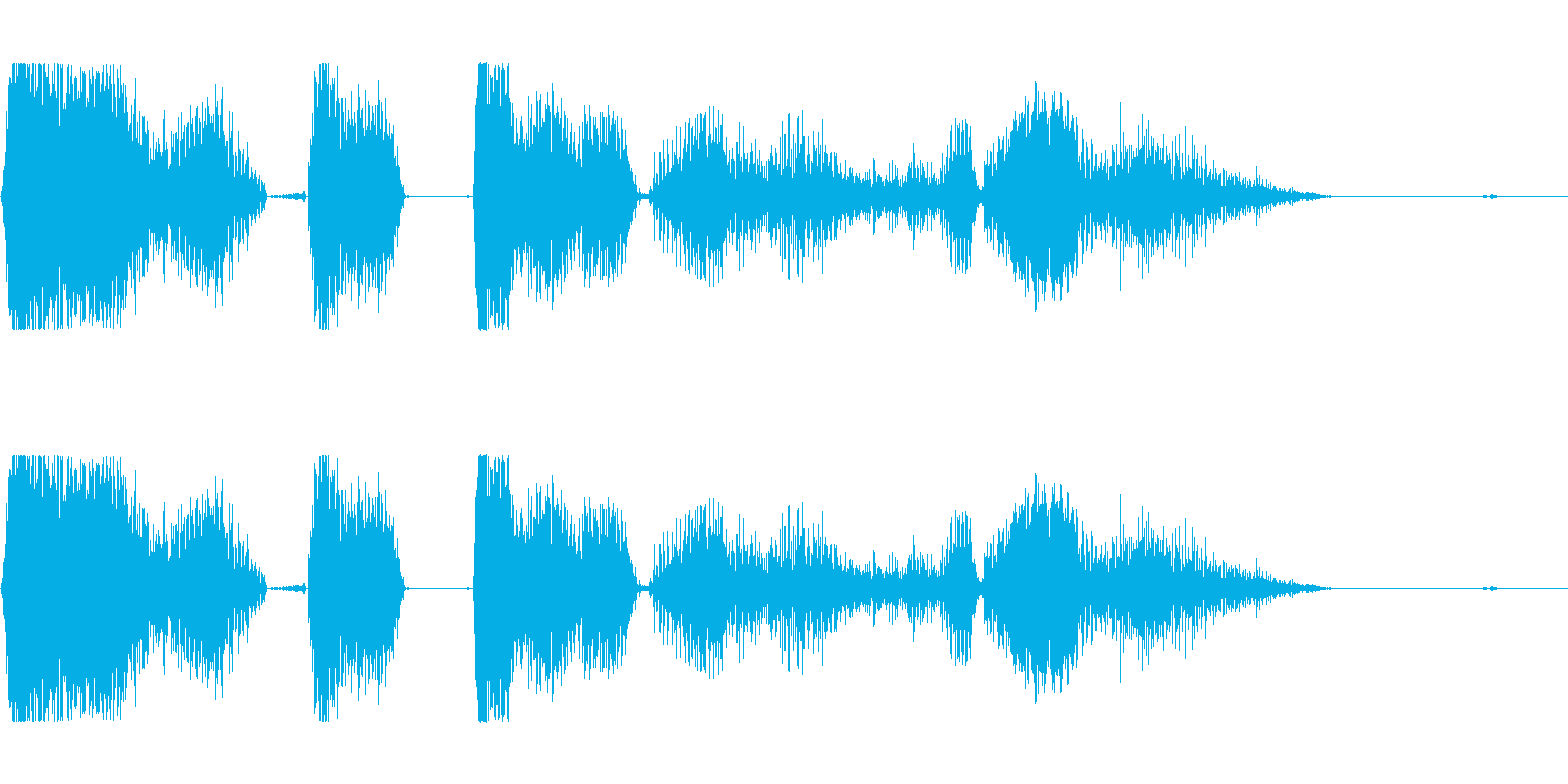モンスターが吠える声ですの再生済みの波形
