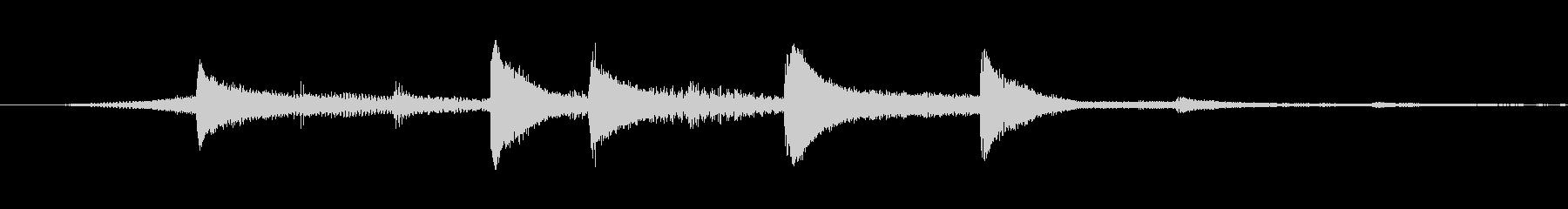 爽やか綺麗なサウンドロゴの未再生の波形