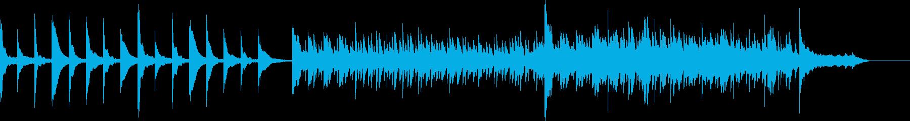静かな期待や予感を感じさせる曲の再生済みの波形