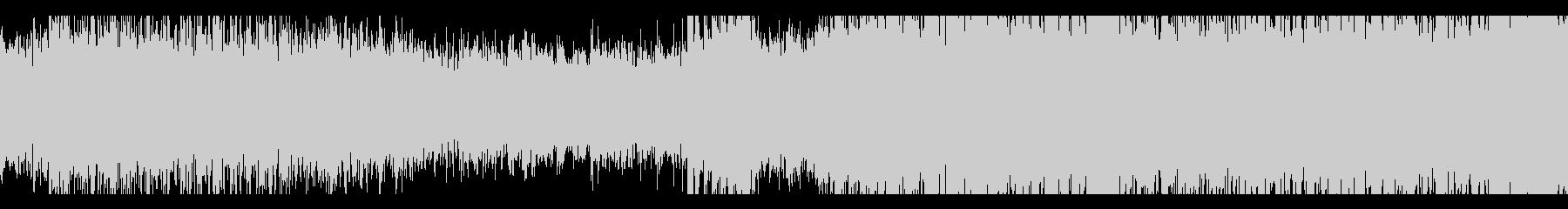 恐怖感たっぷりのピアノの未再生の波形