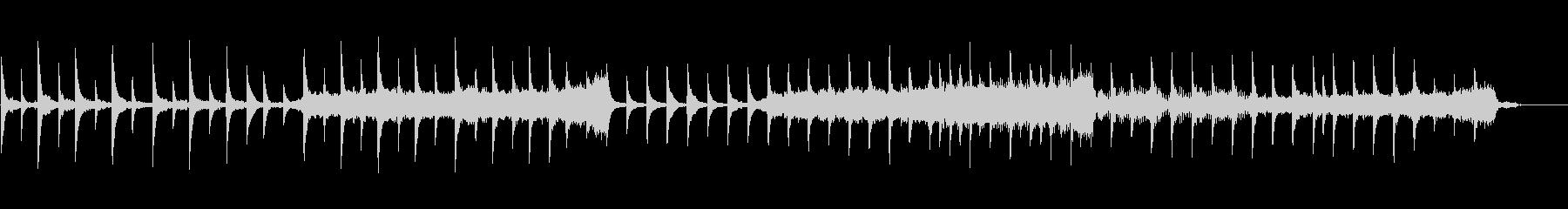 ピアノ主体の幻想的で穏やかなBGMの未再生の波形