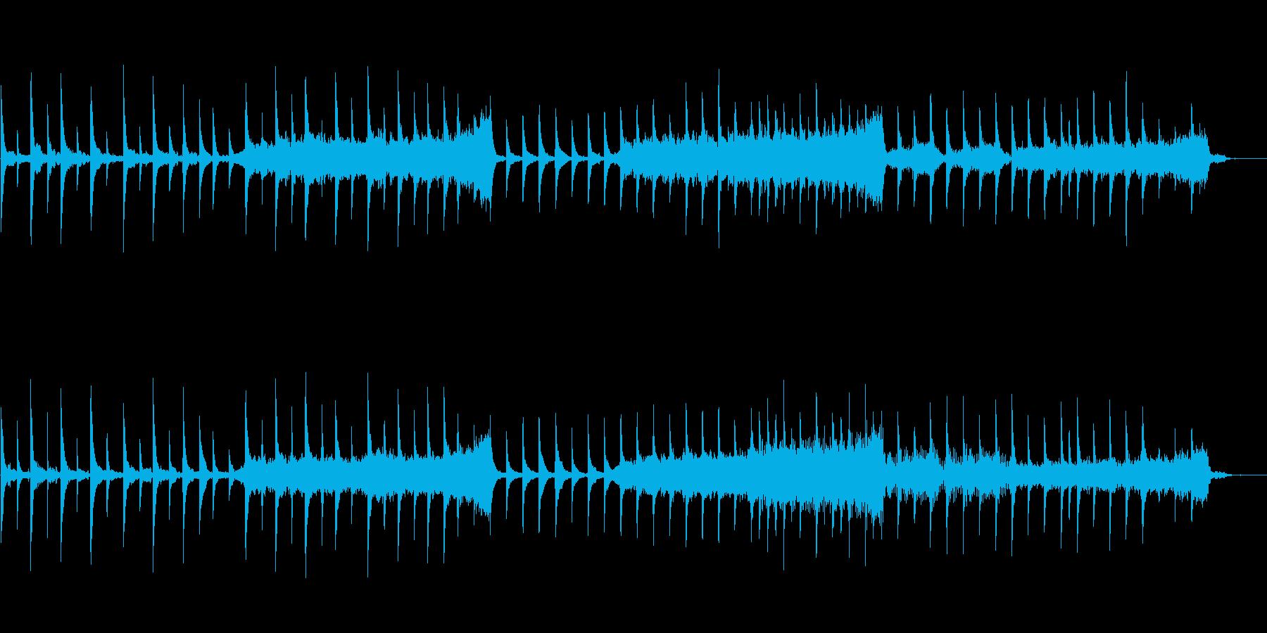 ピアノ主体の幻想的で穏やかなBGMの再生済みの波形